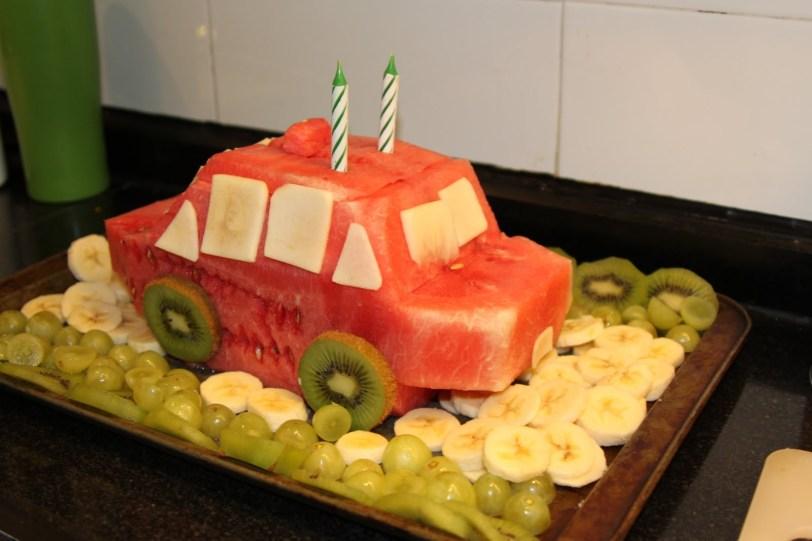 Watermelon car cake