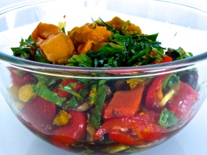 Coriander, Dill. Cilantro, Rocket, Arugula, Baby English Spinach, Marinated Mushrooms, Steamed Pumpkin, Roasted Red peppers, Pineapple Salsa, Turmeric Paste, Fermented Foods, Fermented Vegetables, Roslyn Uttleymoore, Healthy Gut Flora,